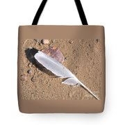 Feather On Damp Sand Tote Bag