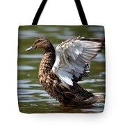Feather Spread - Female Mallard Tote Bag