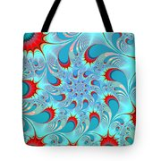 Feathered Coil Tote Bag