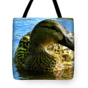 Feathered Female Tote Bag