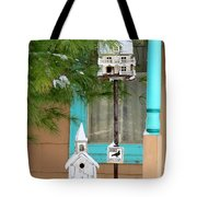 Feathered Friends Welcome Tote Bag