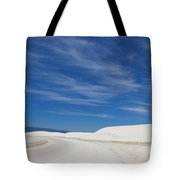 Feathery Clouds Over White Sands Tote Bag