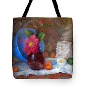 Featured Blue Bowl   Tote Bag by Nancy Stutes