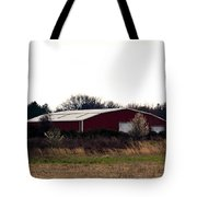 February's Red Barn Tote Bag
