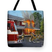 Feed Store Fire Tote Bag