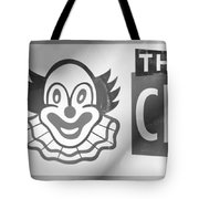 Feed The Clown In Black And White Tote Bag