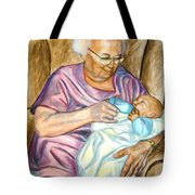 Feeding Baby 1 Tote Bag