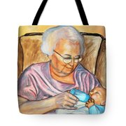 Feeding Baby 2 Tote Bag