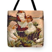 Feeding Ducks Tote Bag