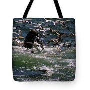 Feeding Humpback Whale Tote Bag