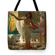 Feeding The Sacred Ibis In The Halls Of Karnac Tote Bag