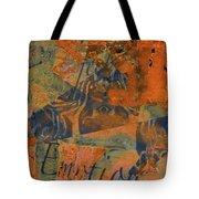 Feel Emotion Orange And Green Tote Bag