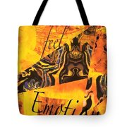 Feel Emotion Yellow And Black Tote Bag
