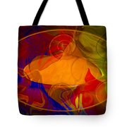 Feeling At Home With Uncertainty Abstract Healing Art Tote Bag