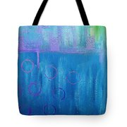 Feeling Blue Abstract Tote Bag