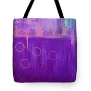 Feeling Purple Abstract Tote Bag
