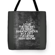 Feeling Quotes Poster Tote Bag