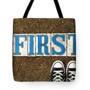 Feet First Tote Bag