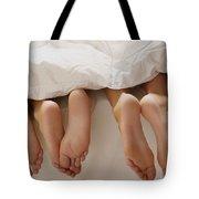 Feet In Bed Tote Bag