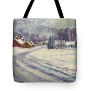 Felchville Village In The Snow Tote Bag