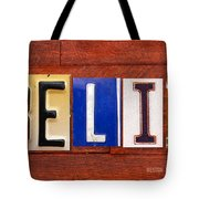 Felix License Plate Name Sign Fun Kid Room Decor Tote Bag
