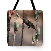 Female Anna's Hummingbird Tote Bag