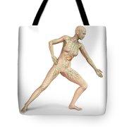 Female Body In Dynamic Posture Tote Bag