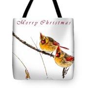 Female Cardinals Card Tote Bag