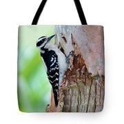 Female Downy Woodpecker Tote Bag