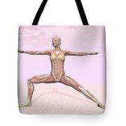 Female Musculature Performing Warrior Tote Bag