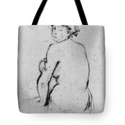 Female Nude Seen From Behind Tote Bag by Berthe Morisot