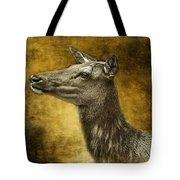 Female Yellowstone Elk Tote Bag