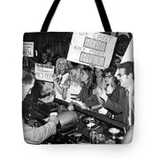 Feminists Protest  Brown's Bar Tote Bag