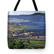 Fence Along Rocky Harbour-nl Tote Bag
