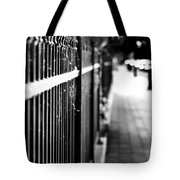 Fence At Eight  Tote Bag