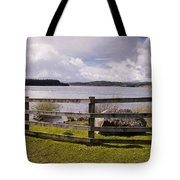 Fence At Kielder Water Tote Bag