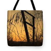 Fence At Sunset I Tote Bag
