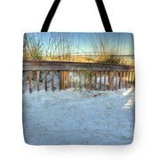 Fence At The Beach In St Augustine Florida Tote Bag