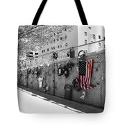 Fence At The Oklahoma City Bombing Memorial Tote Bag