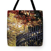 Fence At Woodlawn Cemetery Tote Bag