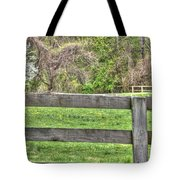Fence Field Tote Bag
