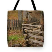 Fence In Autumn Tote Bag