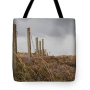 Fence In The Storm In Norway Tote Bag