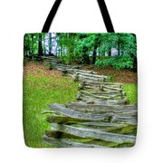 Fence Line Tote Bag by Dan Stone