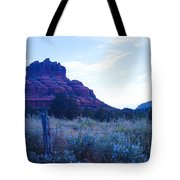 Fence Near Bell Rock Tote Bag