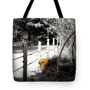 Fence Near The Garden Tote Bag by Julie Hamilton