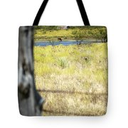 Fence Pasture Horse 14419 Tote Bag