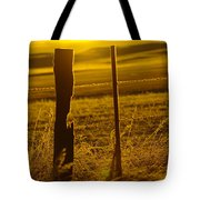 Fence Post In The Morning Light Tote Bag