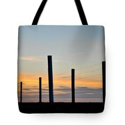 Fence Posts At Sunset Tote Bag