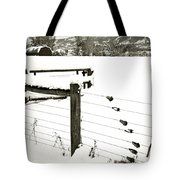 Fence Pulls In Winter Tote Bag